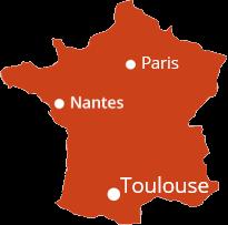 Paris Nantes Toulouse